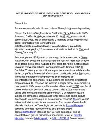 9943d26e397 LOS 10 INVENTOS DE STEVE JOBS Y APPLE QUE REVOLUCIONARON LA ERA TECNOLÓGICA