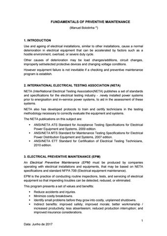 Fundamentals of preventive maintenance by manuel bolotinha issuu page 1 publicscrutiny Choice Image