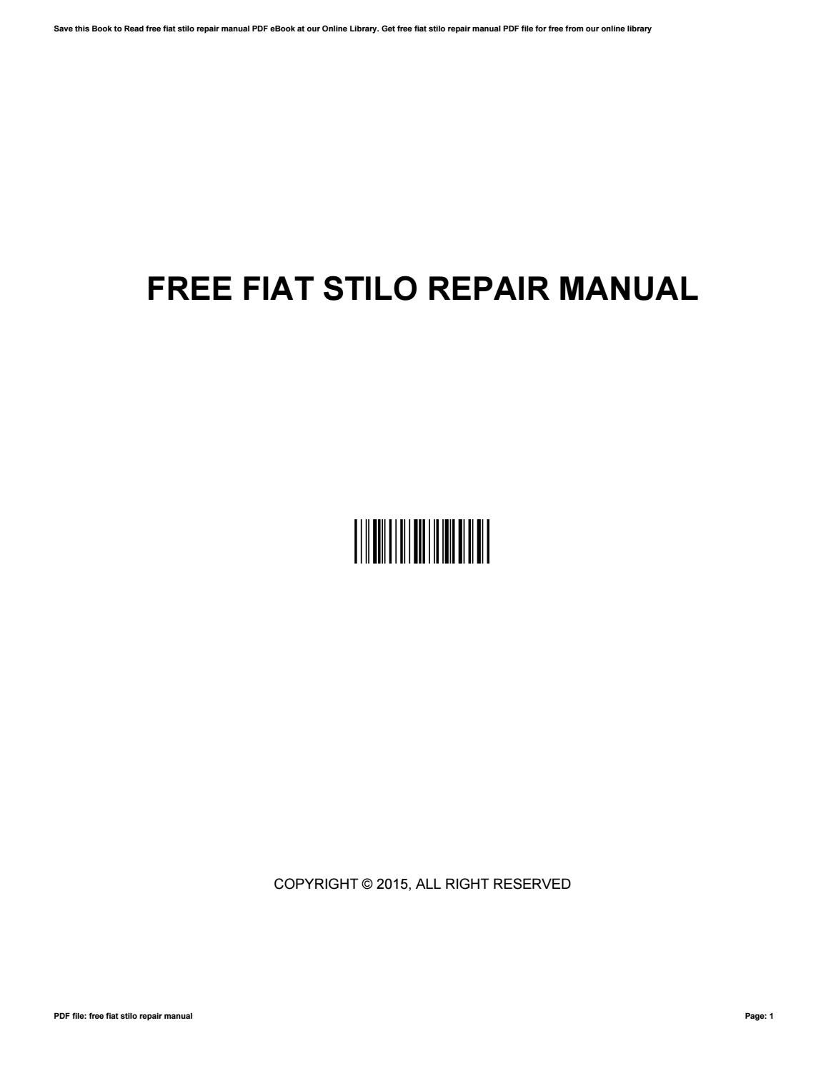 fiat stilo manual pdf free download