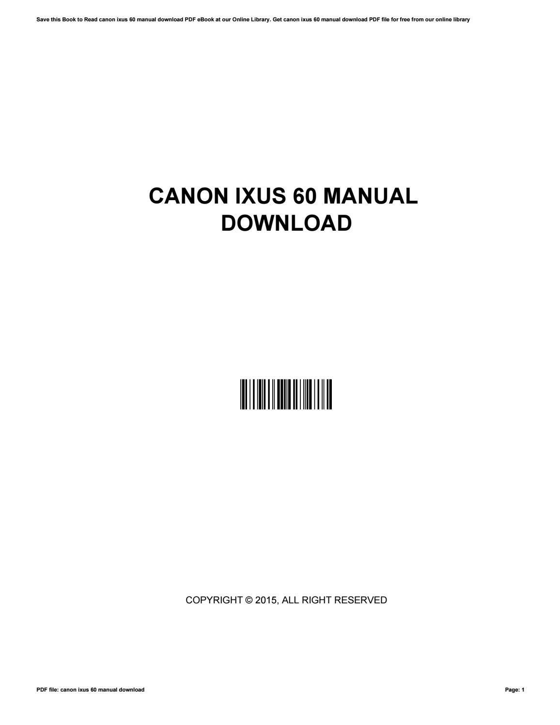 Canon digital ixus 60 review.