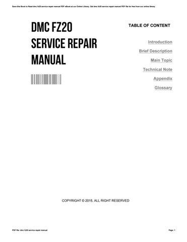 dmc fz20 service repair manual by randallprimeaux3355 issuu rh issuu com Panasonic Lumix Digital Camera Panasonic Lumix DMC-TZ3