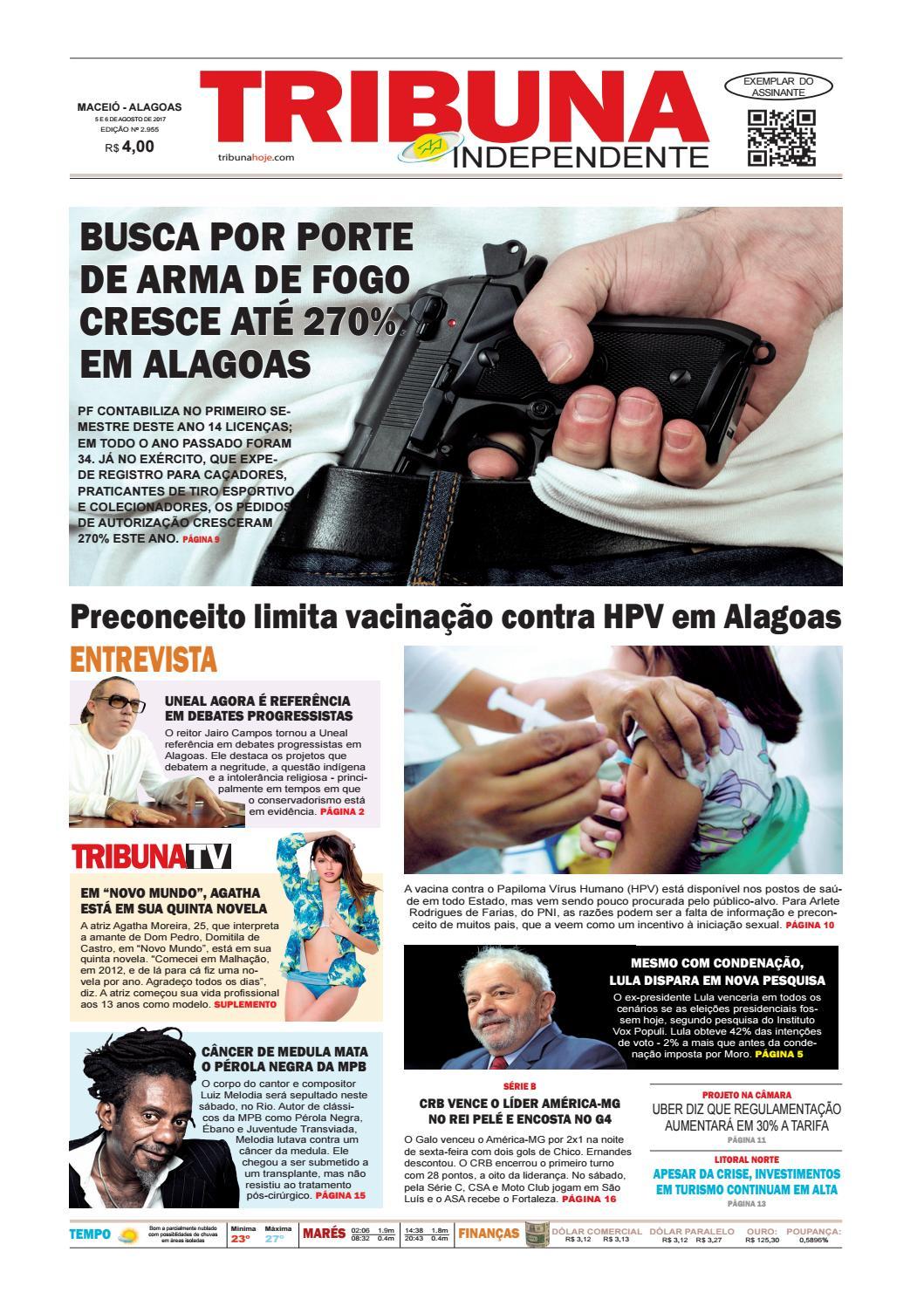 7ffaad70d0ea2 Edição número 2955 - 5 e 6 de agosto de 2017 by Tribuna Hoje - issuu