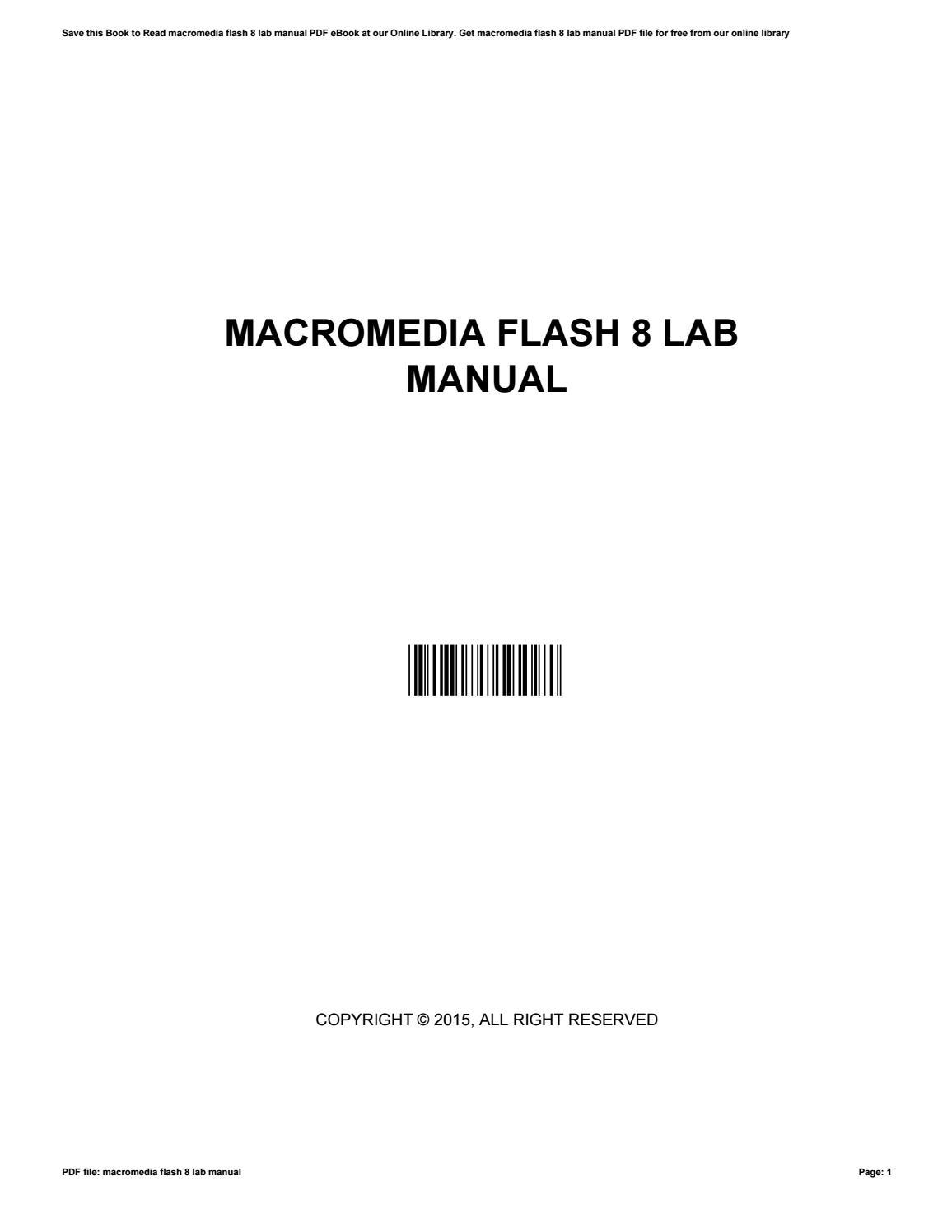 Macromedia flash 8 инструкция