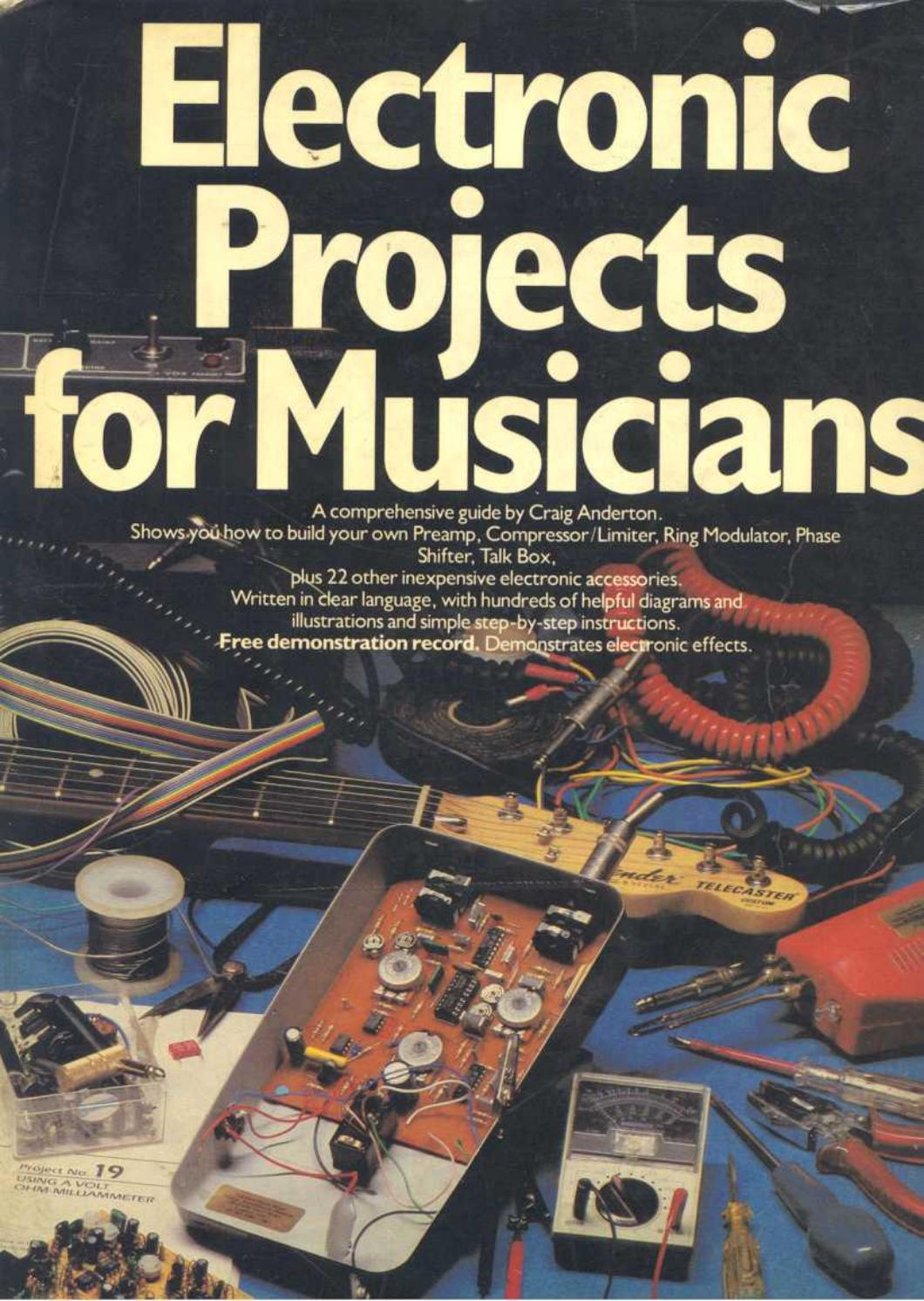 Electronic Projects For Musicians Guitar Circuits And Schematics Fuzzi Amps Other Effects
