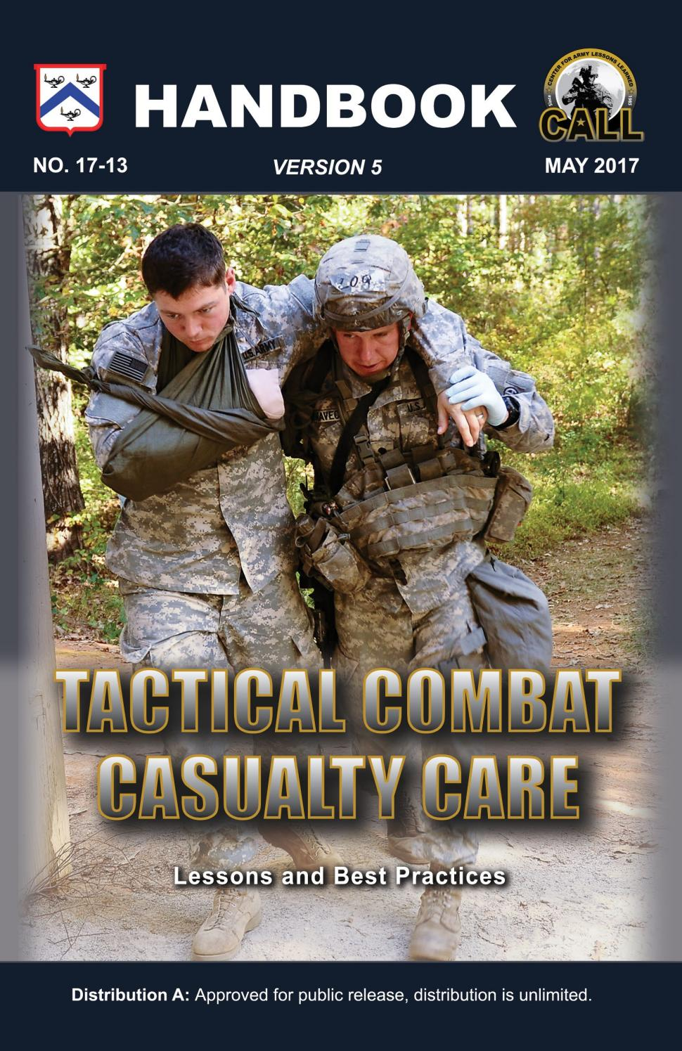 Tactical combat casualty care handbook version 5 by ...