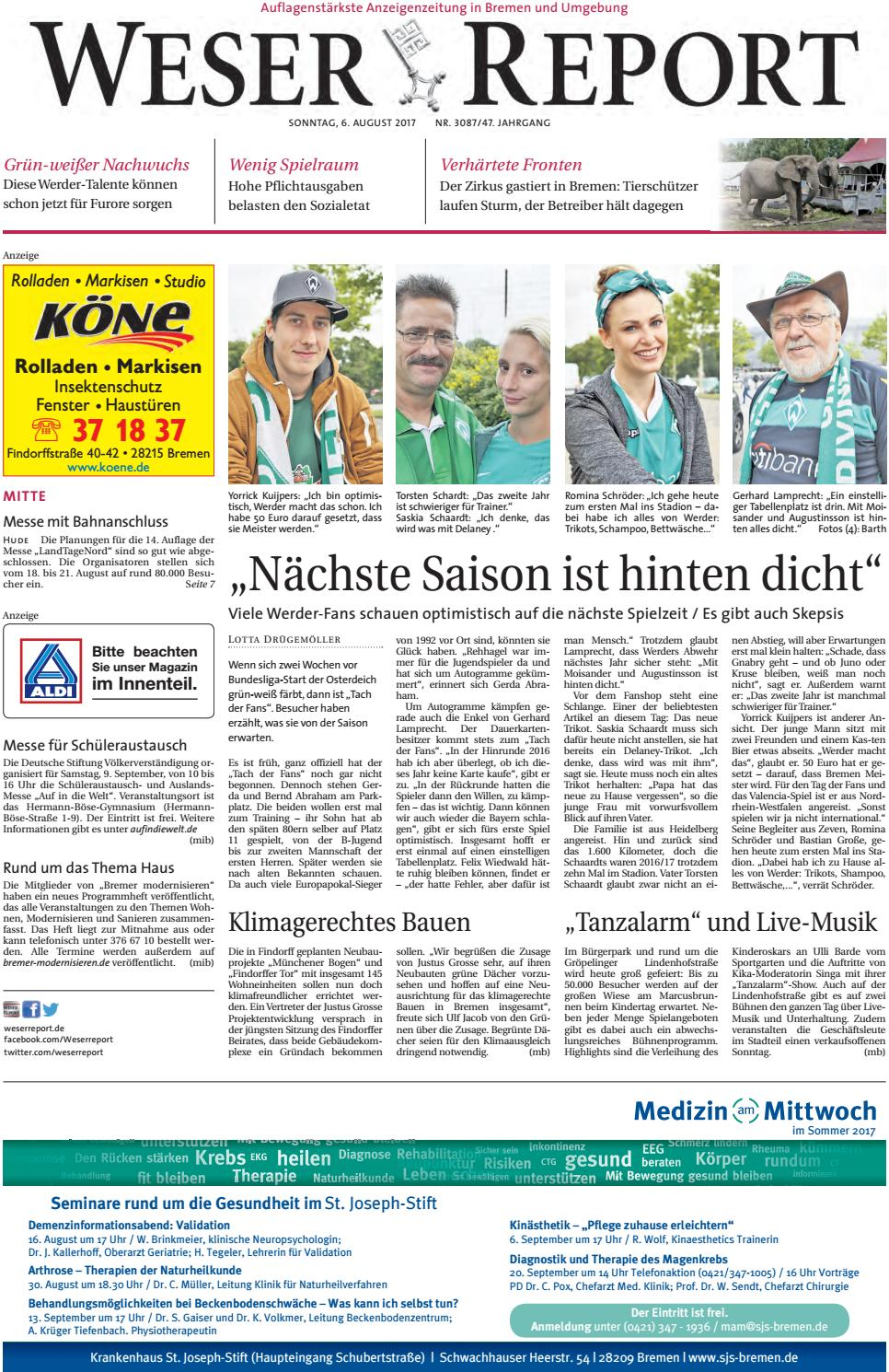 Weser Report Mitte vom 06.08.2017 by KPS