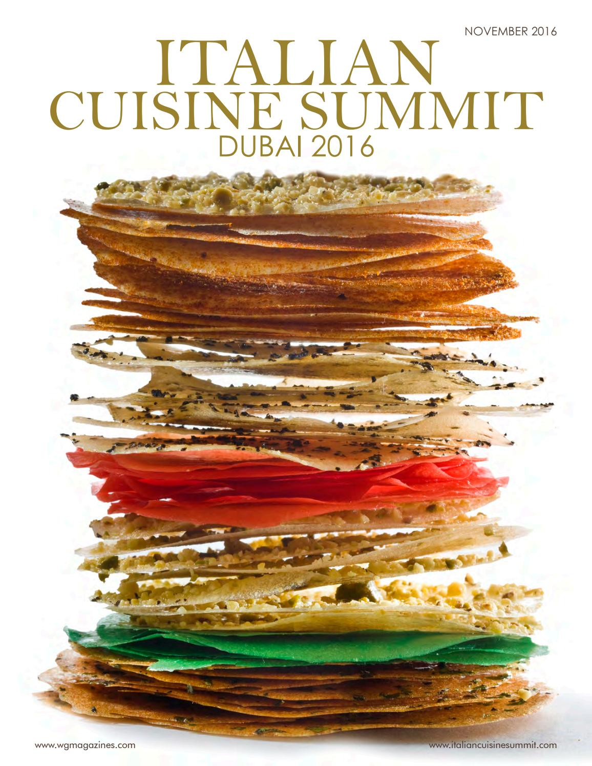 Wg Italian Cuisine Summit 2016 By Wg Magazines Issuu
