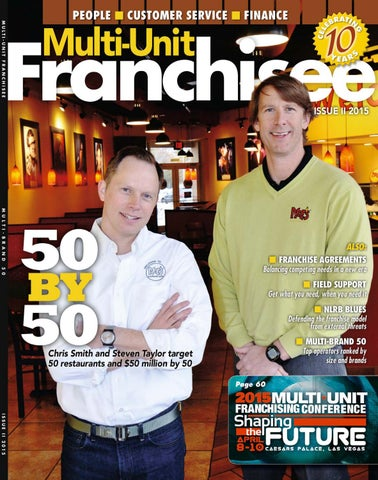 Multi Unit Franchisee Magazine Issue Ii 2015 By Franchise Update
