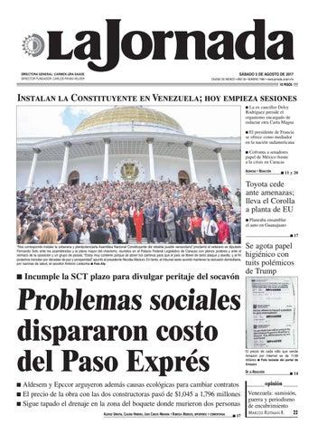 4088a2cda SÁBADO 5 DE AGOSTO DE 2017 CIUDAD DE MÉXICO • AÑO 33 • NÚMERO 11861 •  www.jornada.unam.mx