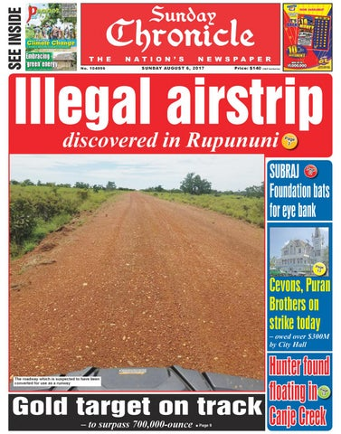 Guyana chronicle e paper 08 06 2017 by Guyana Chronicle E