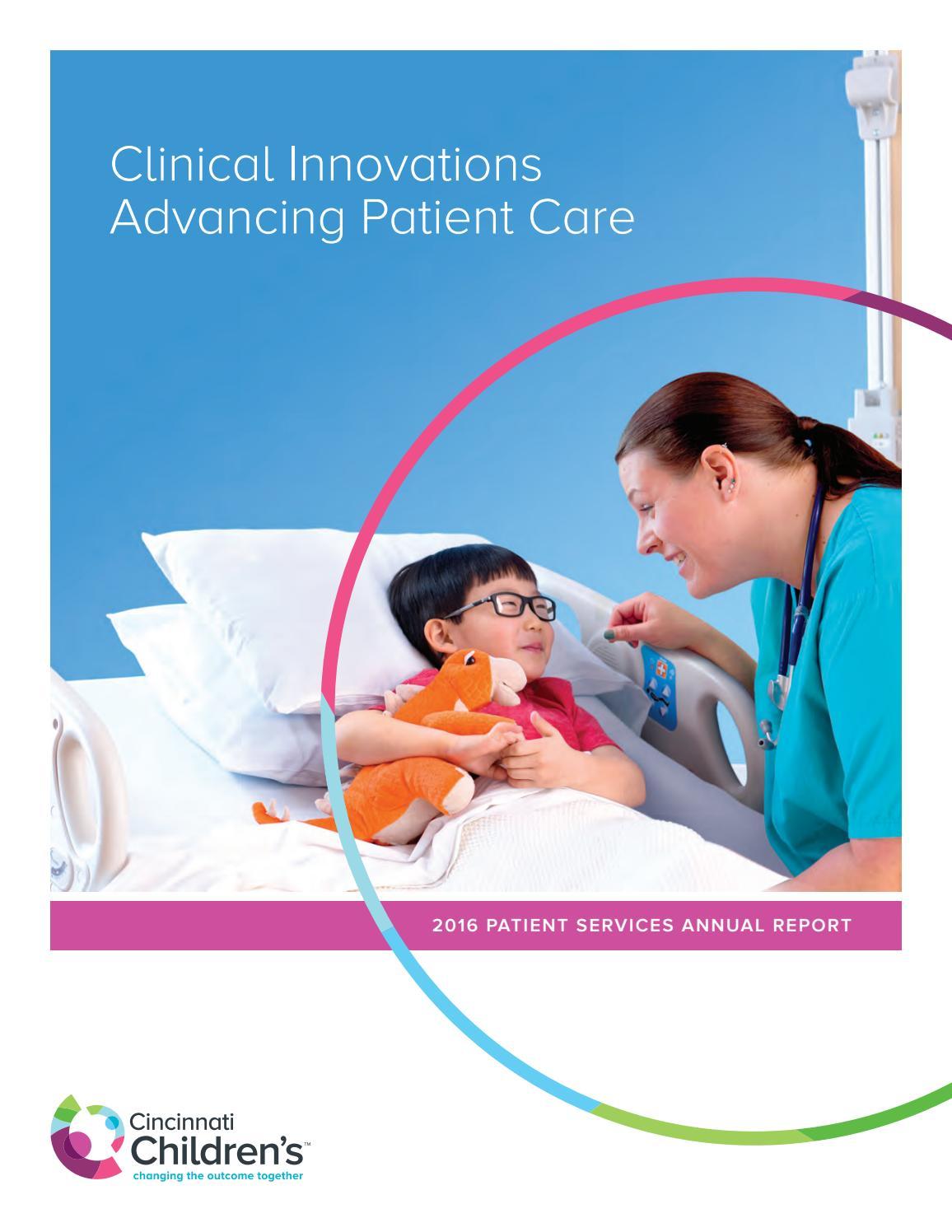 Cincinnati Children's 2016 Patient Services Annual Report