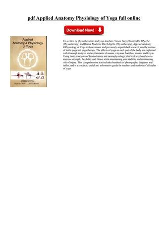 Applied anatomy physiology by vurkobud - issuu