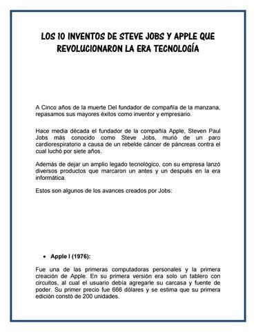 d9cc2fbea0d 10 INVENTOS DE STEVE JOBS by Anyi Yulisa Carrillo Ixmatul - issuu