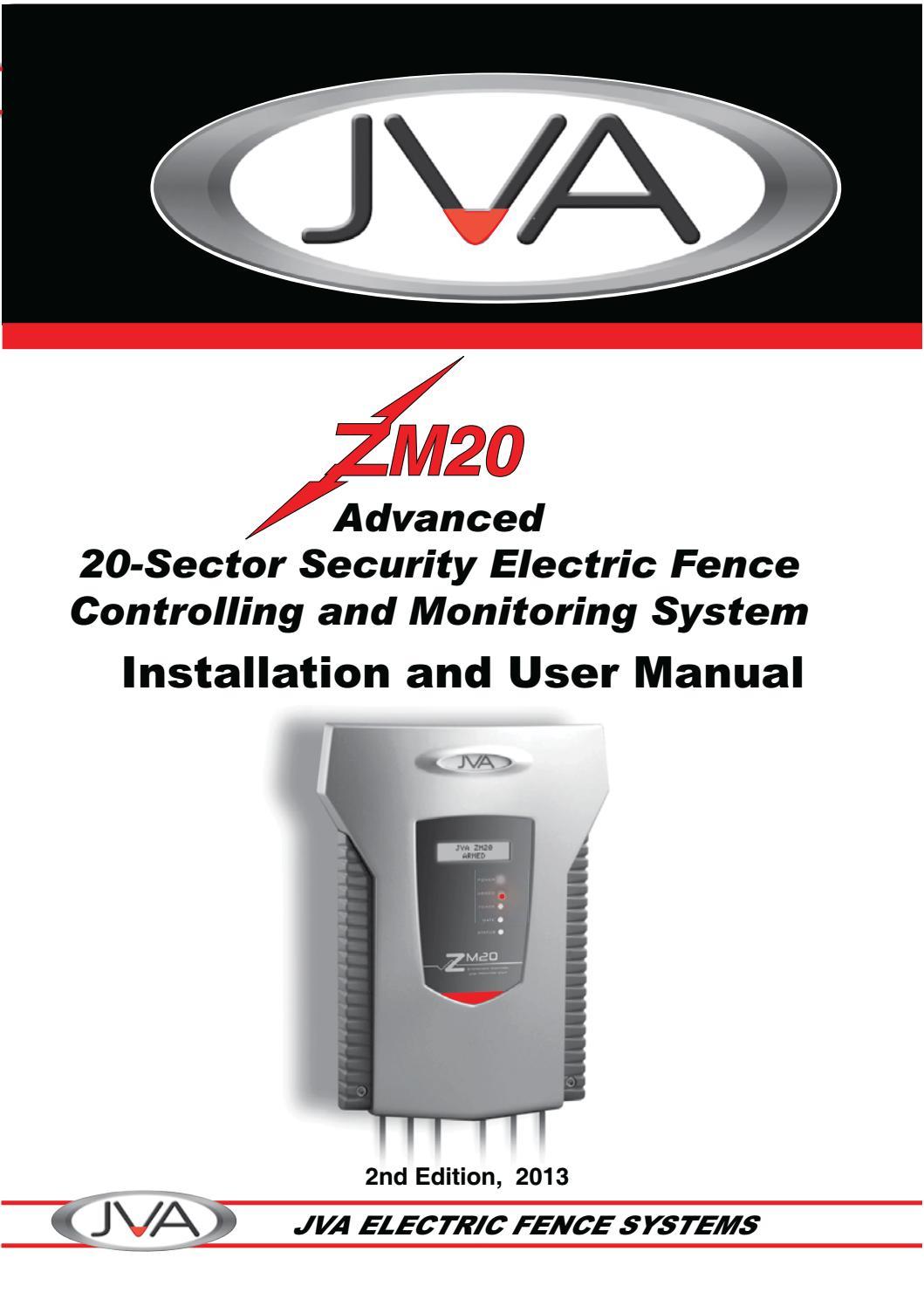 Jva Zm20 Manual By Ndlovu Fencing Issuu Mains Powered Energizers