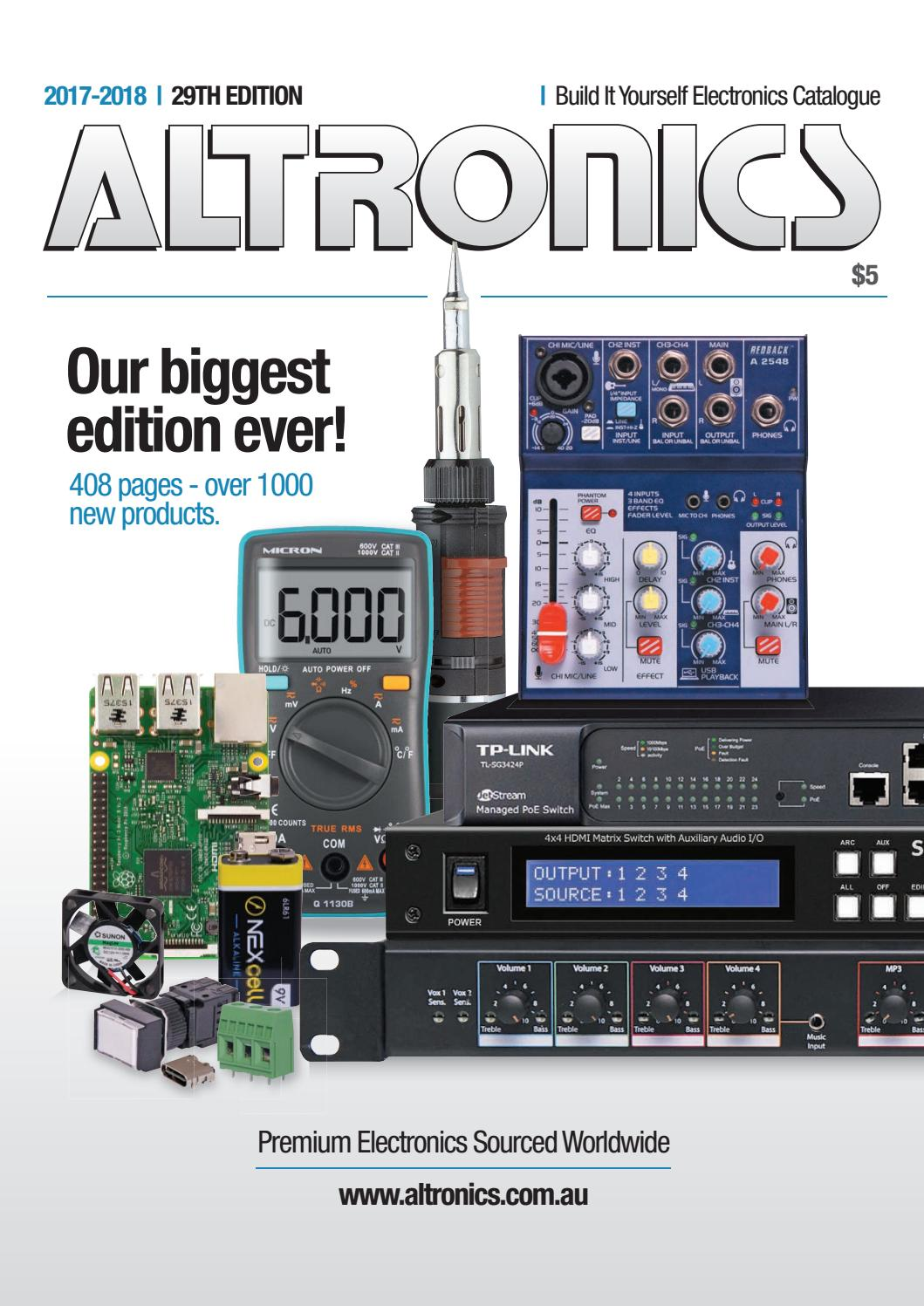 Altronics 2017 18 Electronics Catalogue by AltronicsAU - issuu on