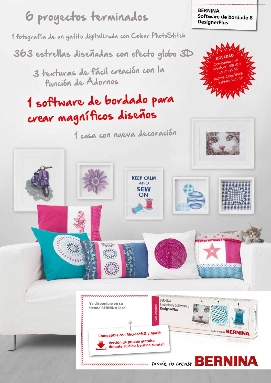 BERNINA Embroidery Software 8 brochure Spanish by Bernina ...