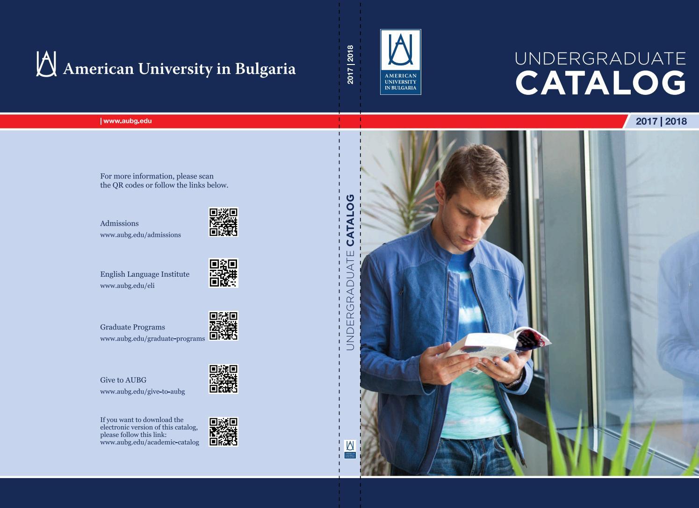 Aubg Academic Catalog 2017 2018 By American University In Bulgaria