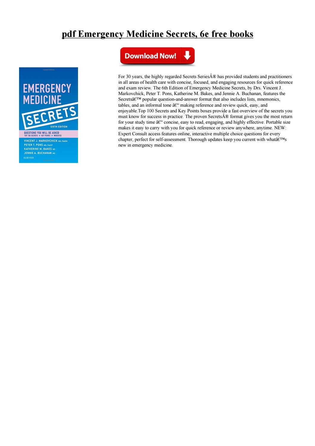 Secrets pdf medicine emergency