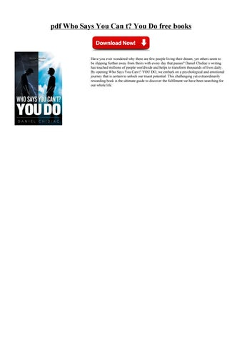 who says you can t you do ebook free download