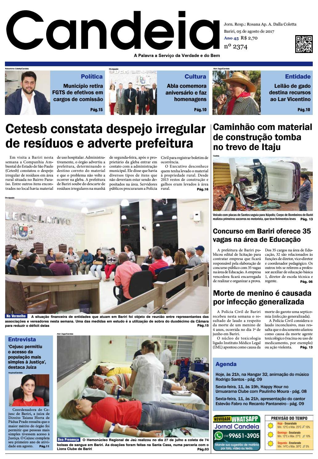 0048988182d58 Jornal candeia 05 08 2017 by Jornal Candeia - issuu