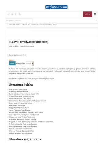 Klasyki literatury górskiej compressed by ciotas - issuu