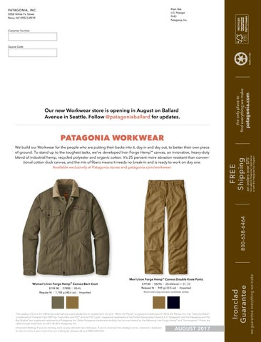 the latest f5e97 5bf4f ... Pro Deals from Outdoor Gear and Clothing Manufacturers  Patagonia  Workwear 2017 Catalog (U.S.) by Patagonia - The Cleanest .