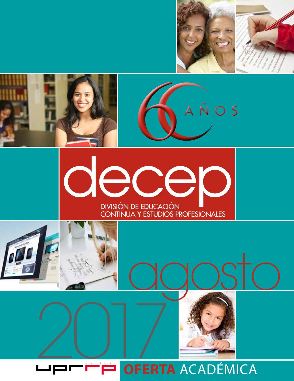 Catálogo Agosto 2017 Decep UPR-RP Aniversario de la División by ...