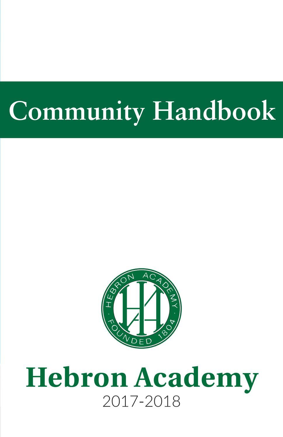 Hebron Academy Community Handbook 2017-2018 by Hebron
