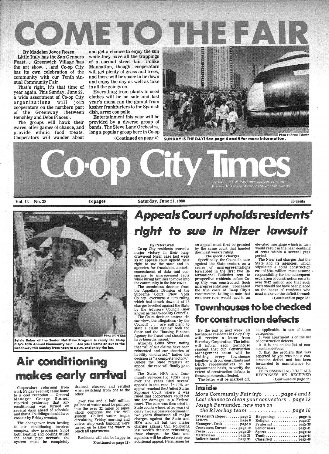 698ac39af812 Co-op City Times 06 21 1980 by Co-op City Times - issuu