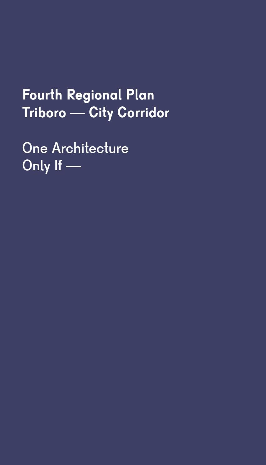 Triboro - City Corridor | Fourth Regional Plan by