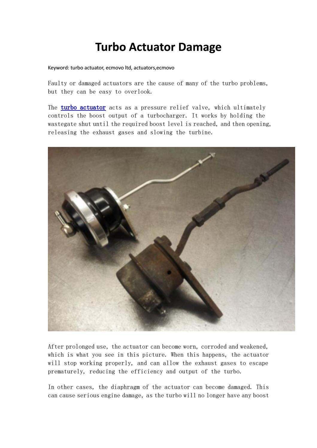 Turbo actuator damage ecmovo ltd by Fate Saber - issuu