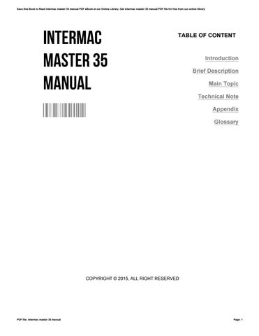 intermac master 35 manual by pattieherndon3330 issuu rh issuu com