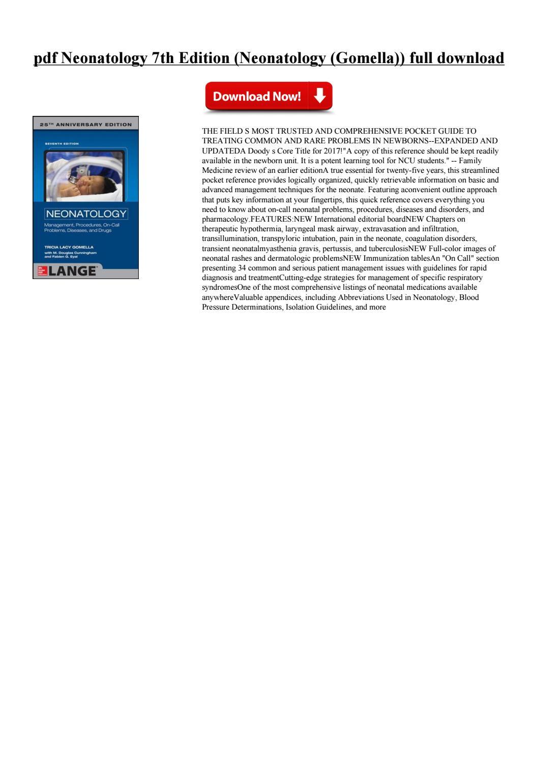 Lange Neonatology 7th Edition Pdf
