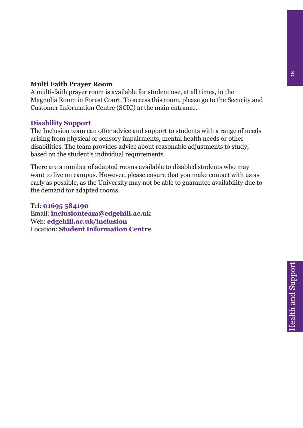 Halls Handbook 2017/18 by Edge Hill University - issuu