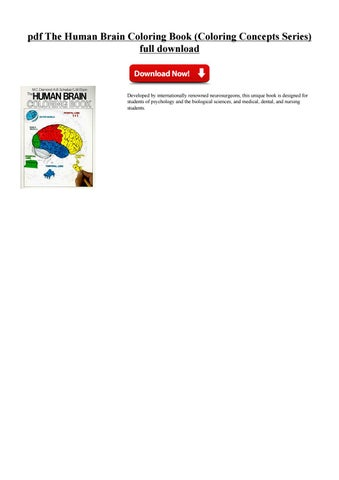Pdf The Human Brain Coloring Book Concepts Series Full Download PDF Free