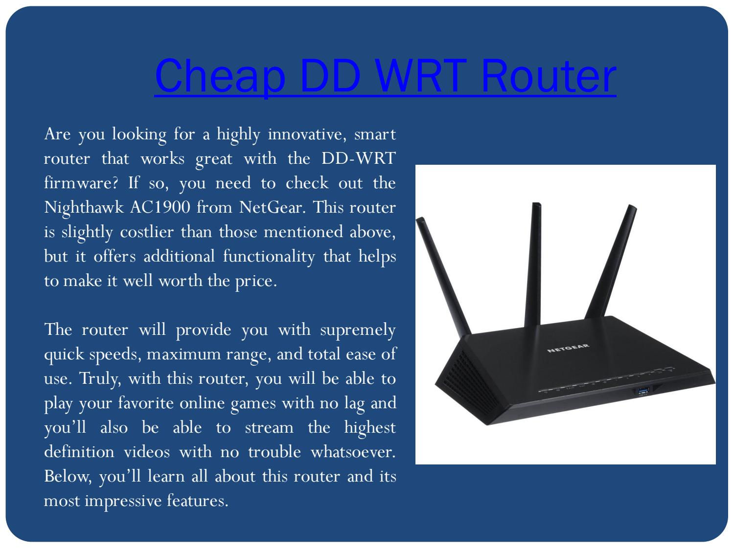 Best dd-wrt router under $50 by Best modem router for gaming