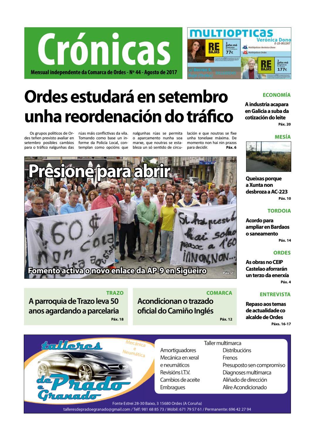 Cronicas Comarcadeordes N44 Agosto2017 By Cr Nicas Peri Dico  # Muebles Visantona