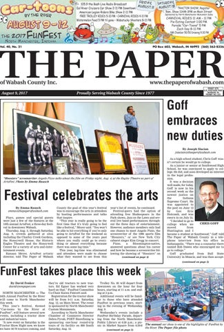 dbf35528578 The Paper of Wabash County - Aug. 9, 2017, Issue by The Paper of ...