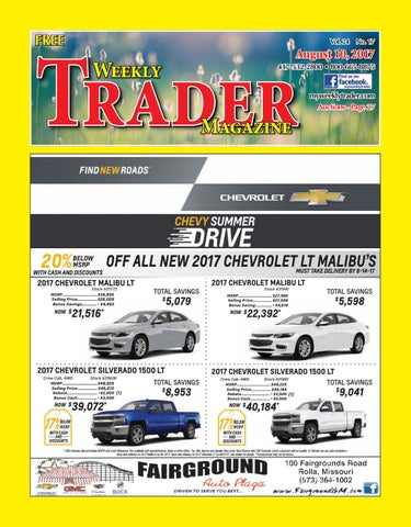 Weekly Trader August 10, 2017 by Weekly Trader - issuu