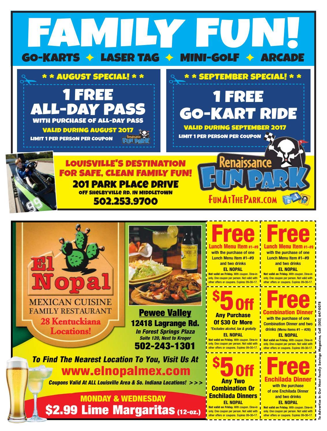 el nopal valley park coupons