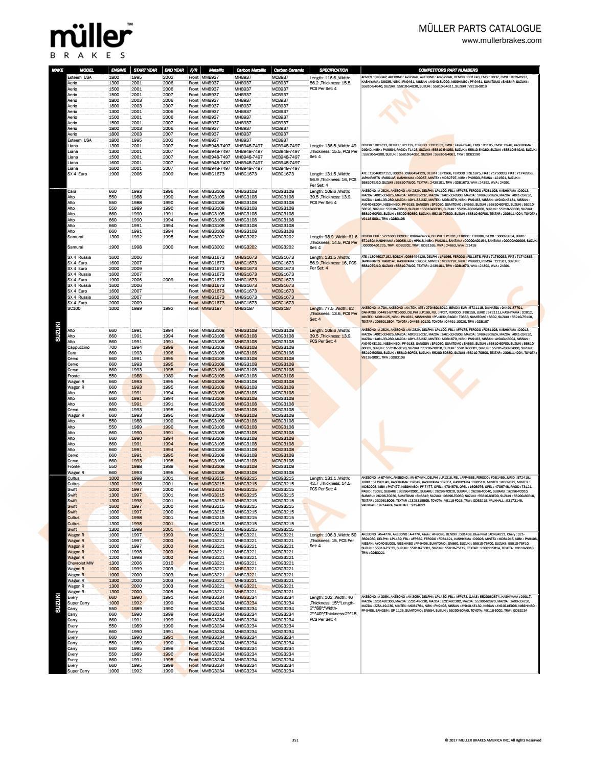 FRONT CERAMIC BRAKE PADS FOR SUZUKI AERIO 2002 2003 2004 2005 D937