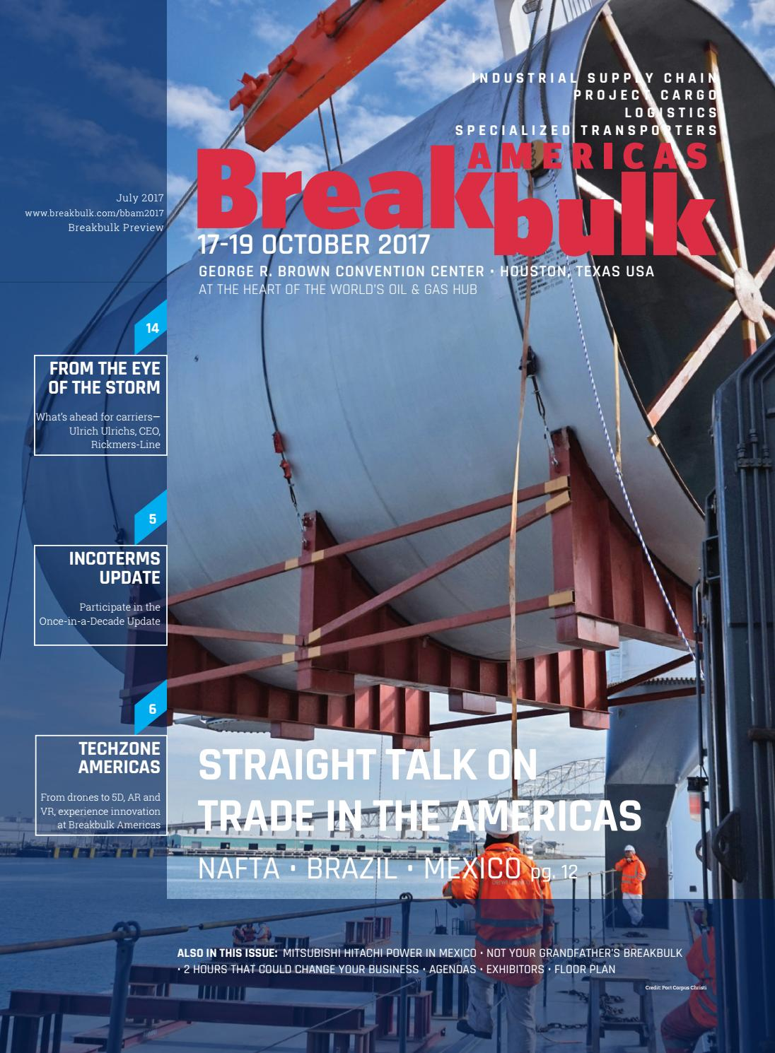 Breakbulk Americas 2017 Event Preview By Events Media Line Up Mitsubishi Hitachi Power Systems Ltd Issuu