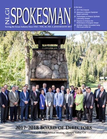 July / August 2017 NLGI Spokesman by Crystal O'Halloran - issuu