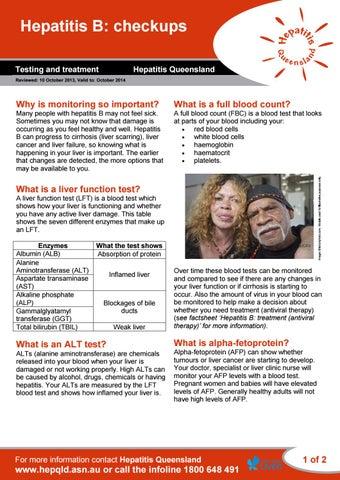 Hepqld - Hepatitis B: checkups by Hepatitis SA - issuu