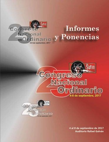 Informes y ponencias 25° Congreso del SUTIN by Carlos - issuu b4b130628ba73
