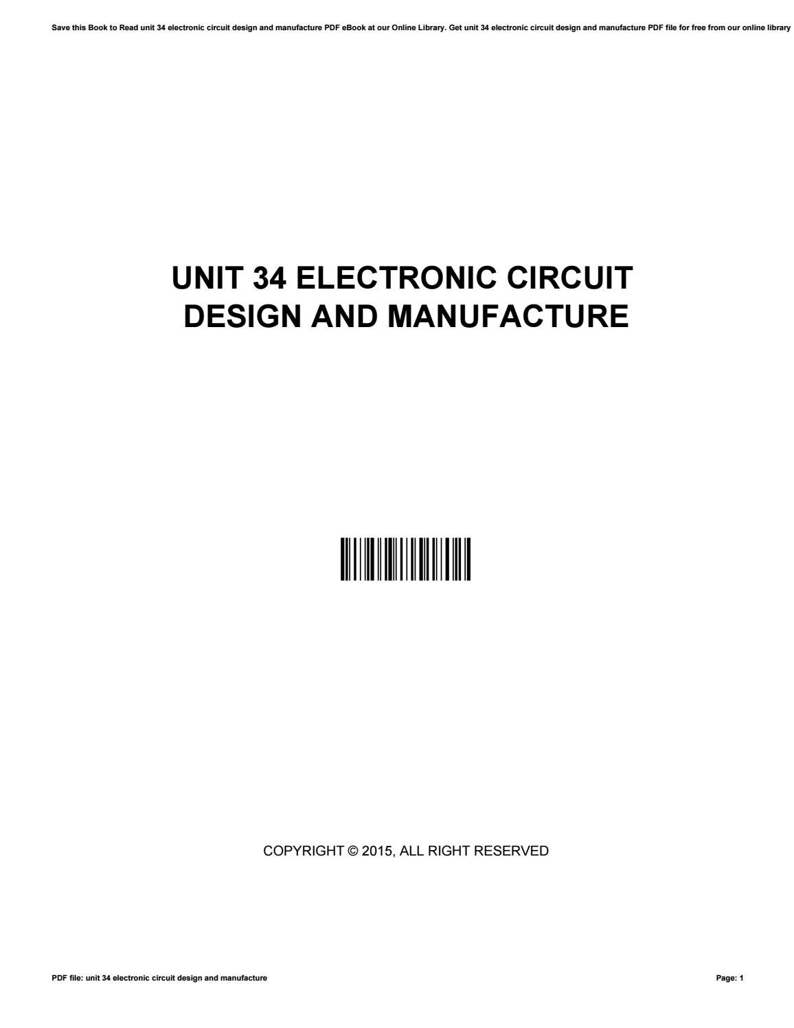Electronic Circuit Design Pdf