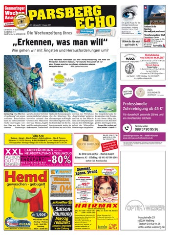 Kw 32 2017 By Wochenanzeiger Medien Gmbh Issuu