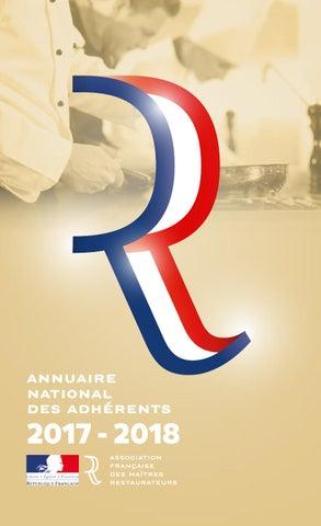Annuaire des Adhérents Maitres Restaurateurs 2017-2018 by Maitres ... 8564436dd83f