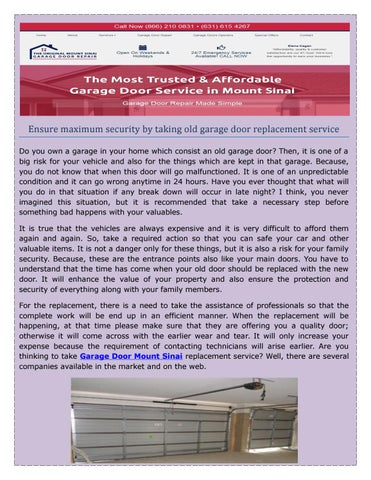 Garage Door Repair Mount Sinai in NY | Fast & Local Services