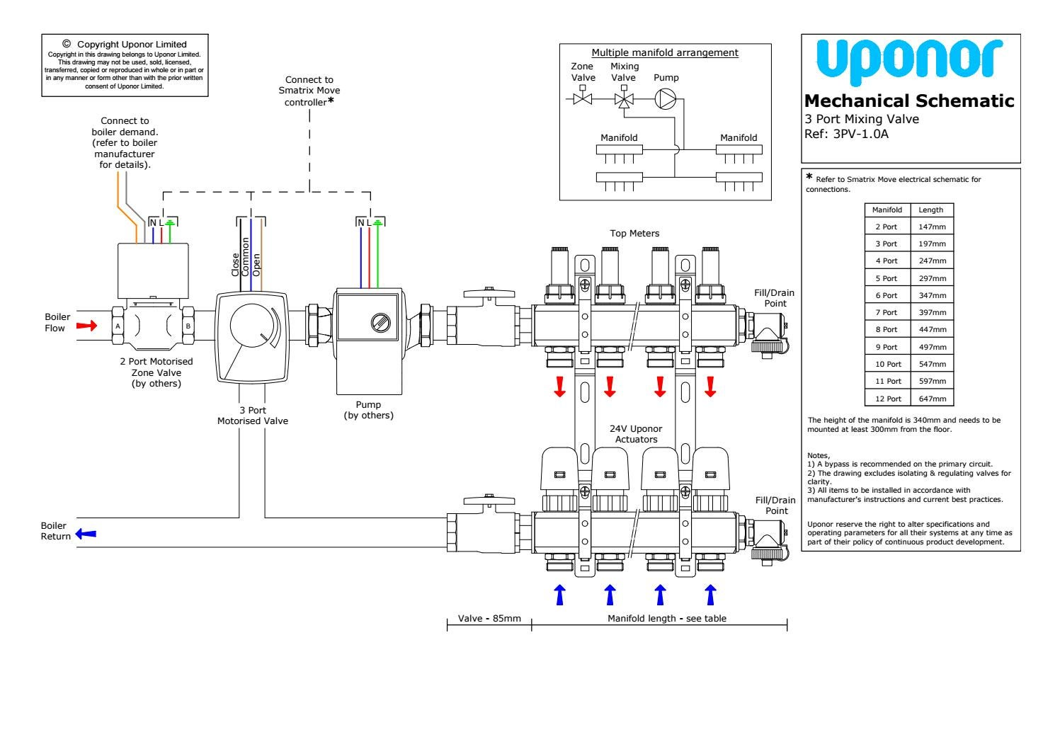 3 Port Valve Variable Water Blending By Uponor Uk Issuu Circuit Diagram Zone